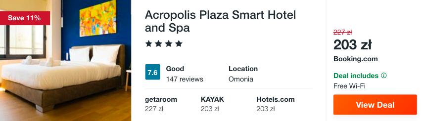 zarezerwuj hotel w atenach