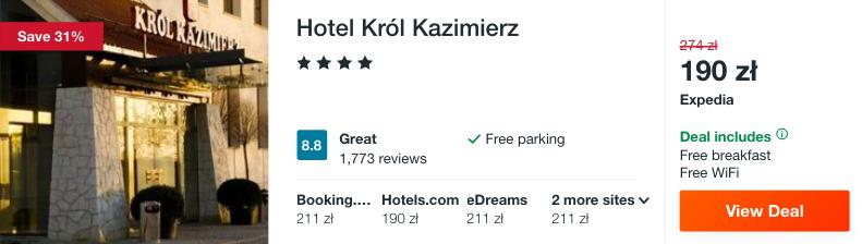 zarezerwuj hotel w kazimierzu