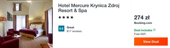 zarezerwuj hotel w krynicy