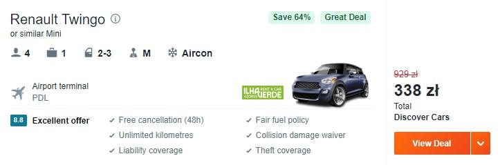 Auto na Azorach