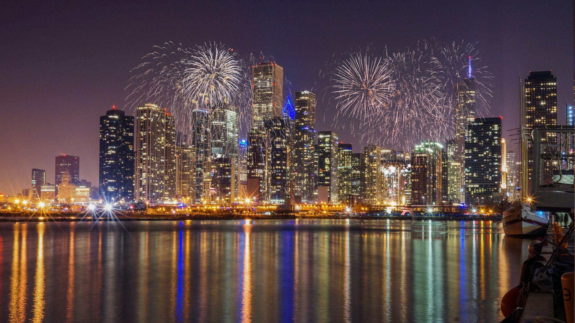 Fajerwerki nad Chicago