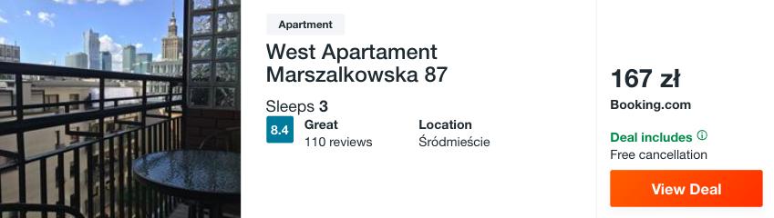 zarezerwuj hotel w warszawie