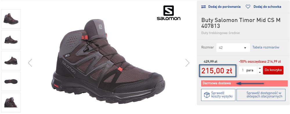 salomon buty tanio