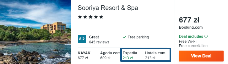 Hotel na Sri Lance