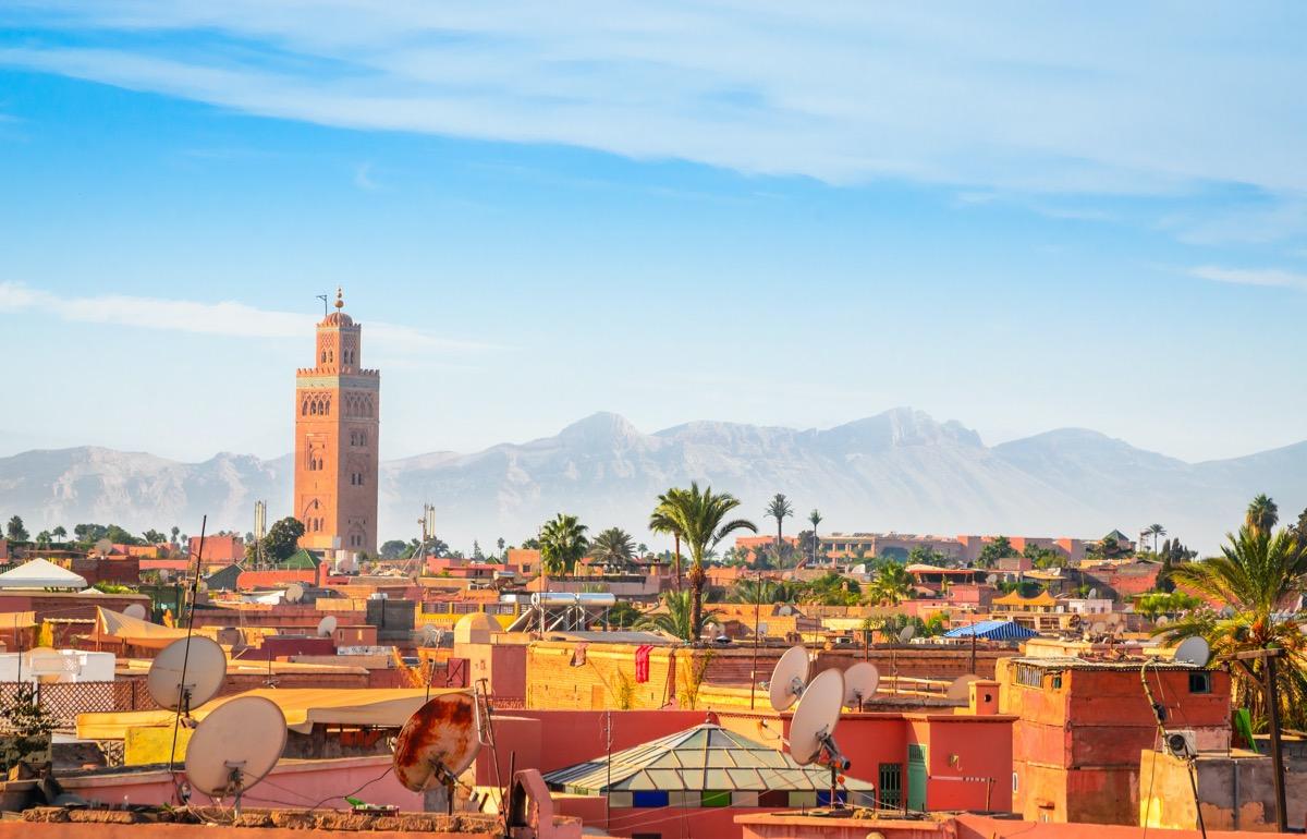 marrakesz widok na miasto