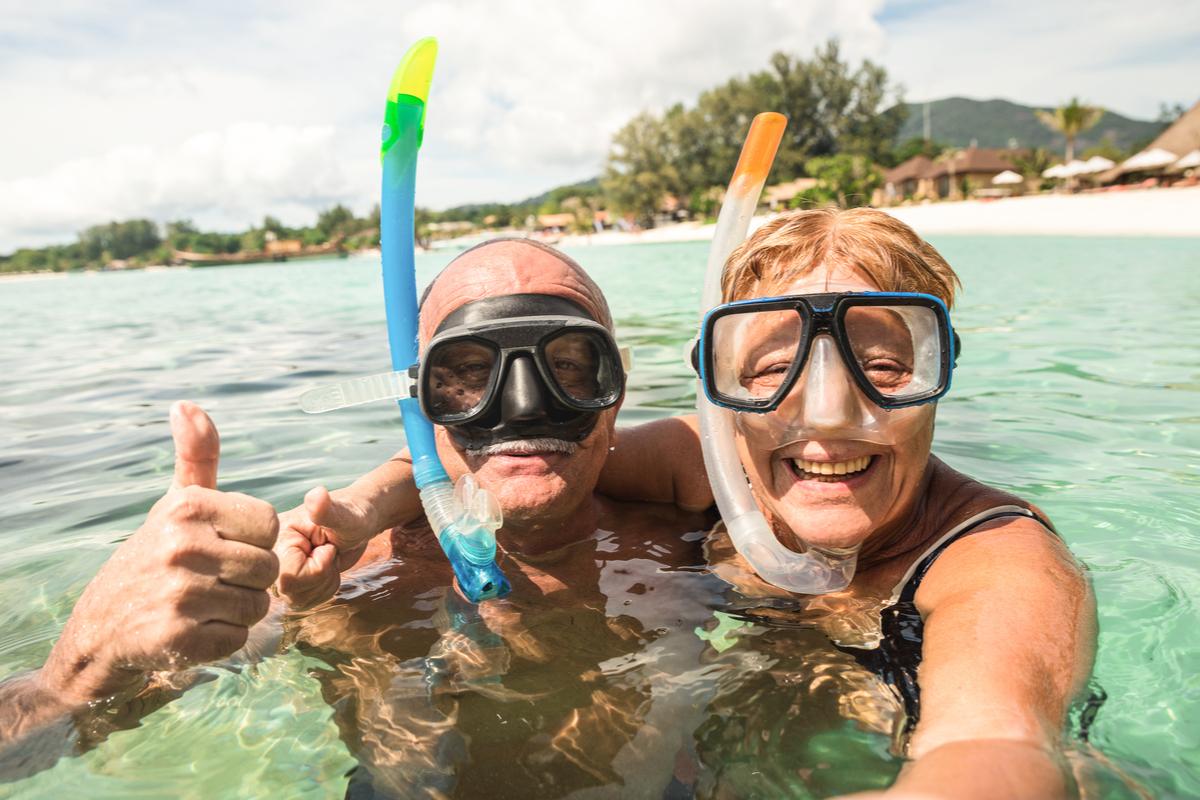 dziadki na wakacjach