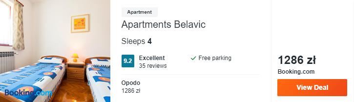 Hotel w Chorwacji