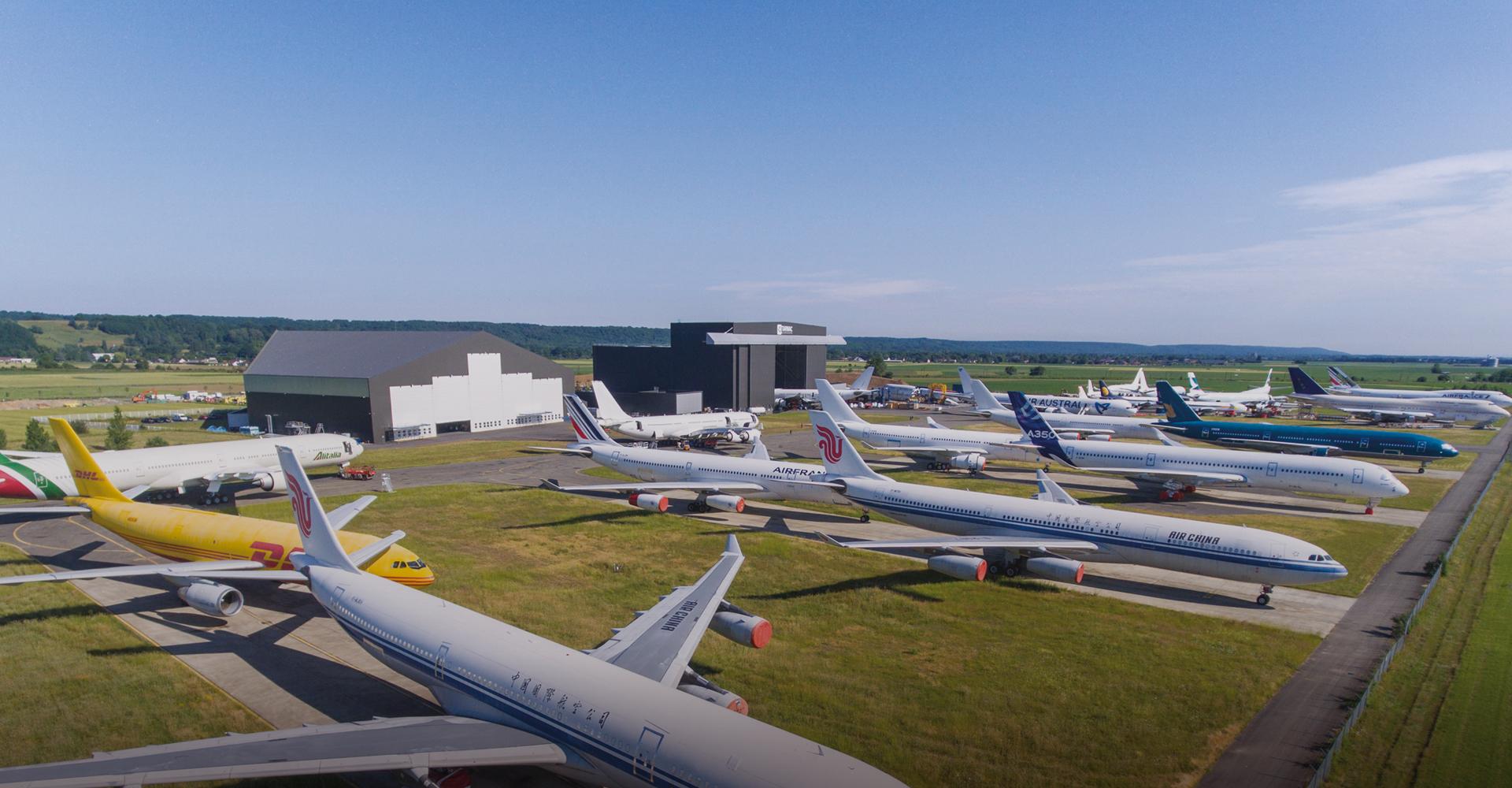 parkowanie samolotów