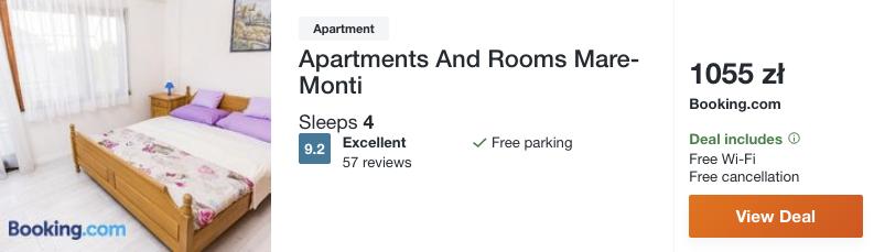 zarezerwuj hotel w chorwacji