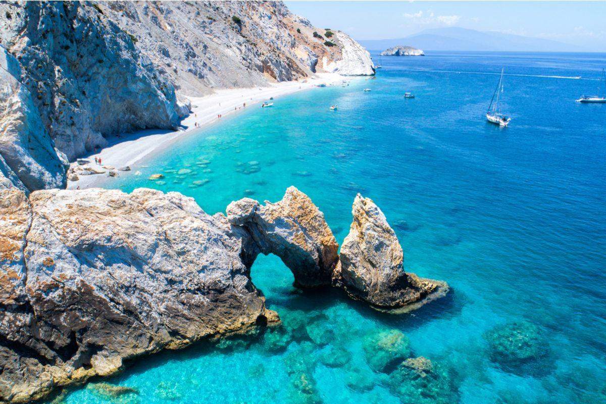 Plaża na Skiatos