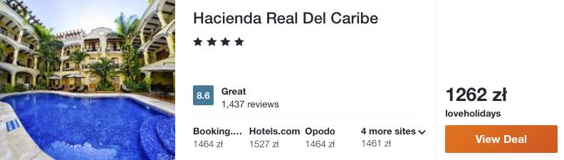 zarezerwuj hotel w meksyku