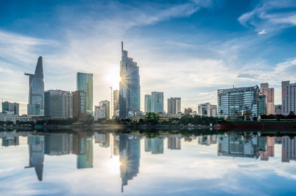 wietnam widok na miasto
