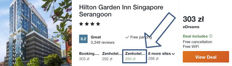 zarezerwuj hotel w singapurze