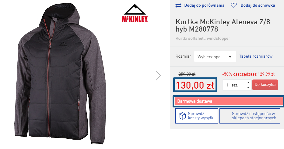 Zamówienie kurtki