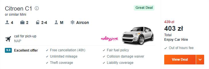 Wypożyczenie auta