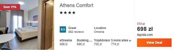 Hotel w Atenach