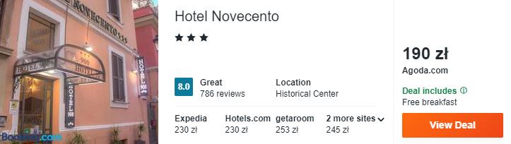 Hotel w Rzymie