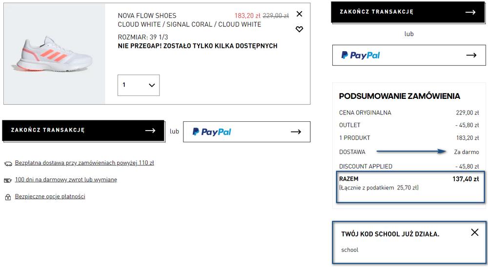 adidas buty promocja
