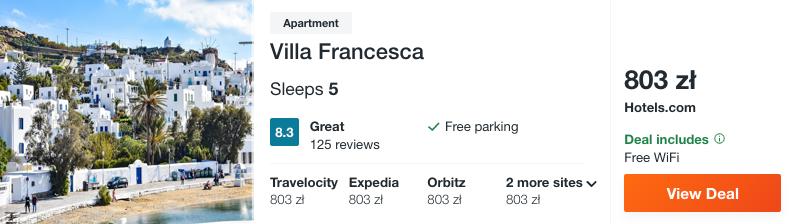 zarezerwuj hotel na mykonos