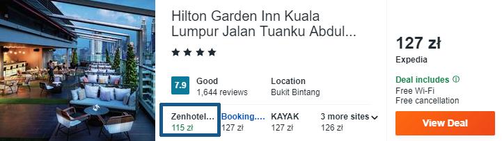 Hotel w Kuala Lumpur