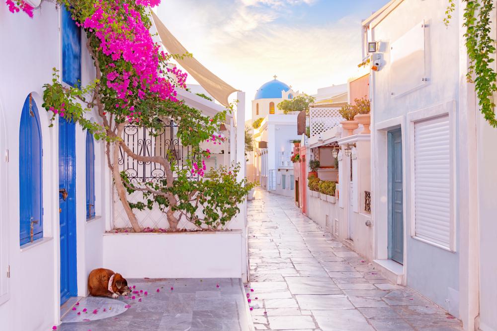 Uliczka w Grecji