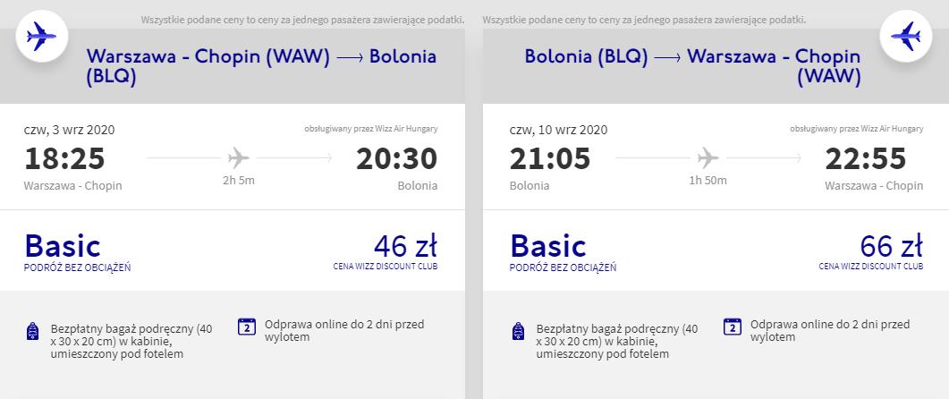 Loty do Bolonii