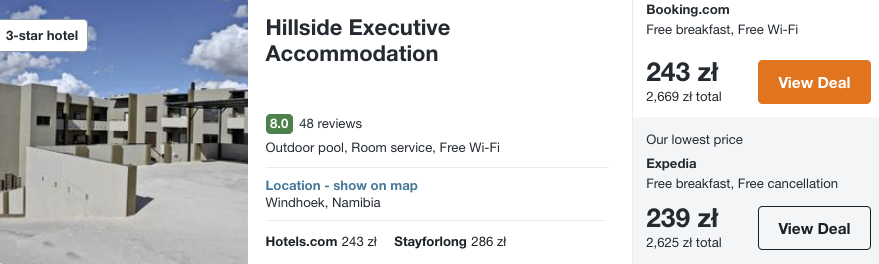 zarezerwuj hotel w namibii