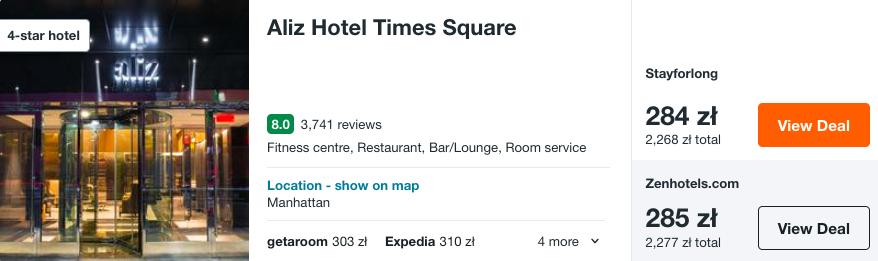 zarezerwuj hotel w nyc