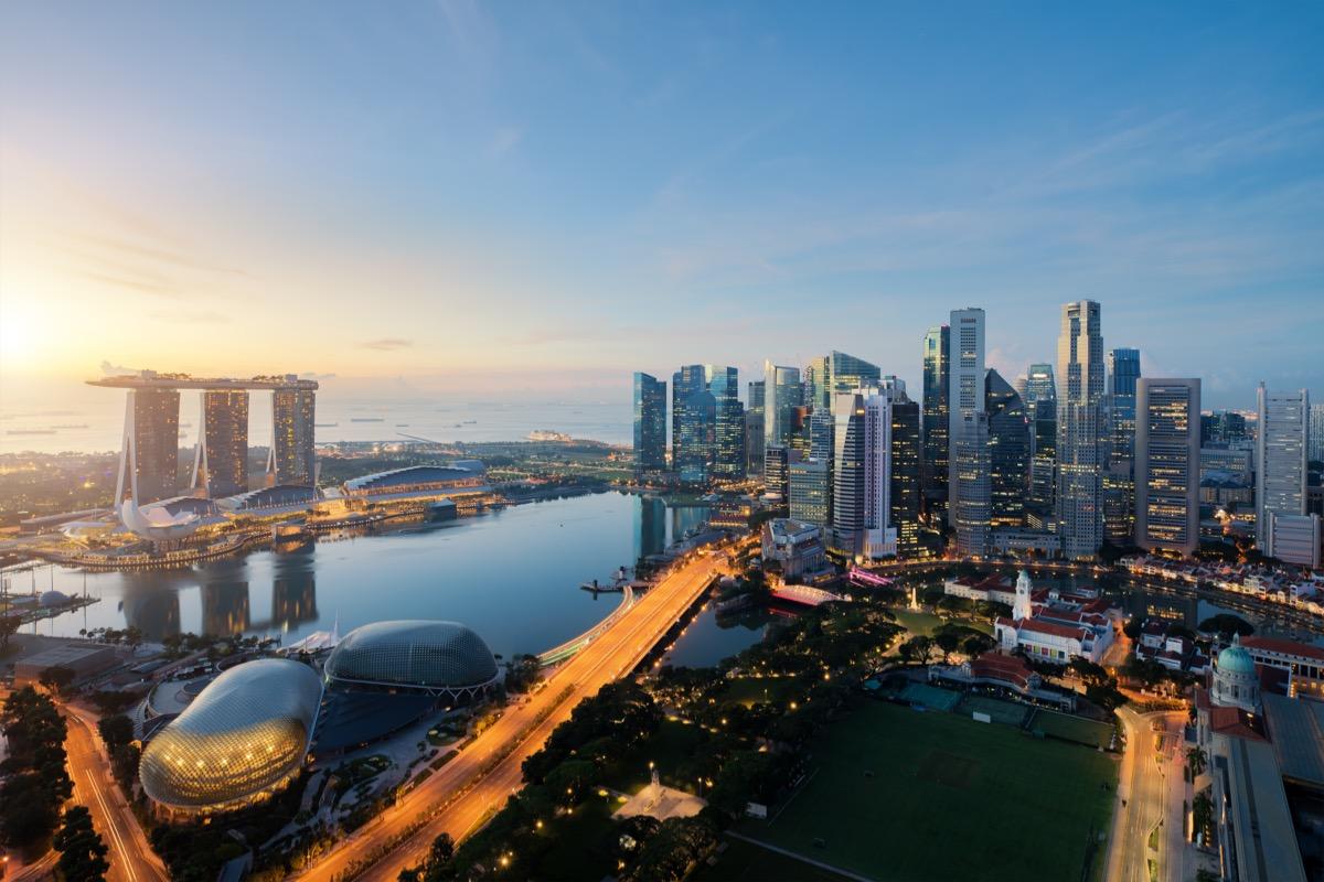 singapur widok na miasto
