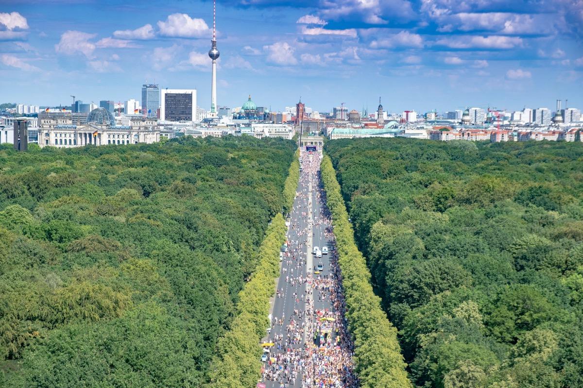 berlin widok na miasto
