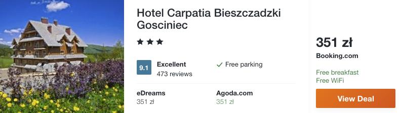 zarezerwuj hotel w bieszczadach