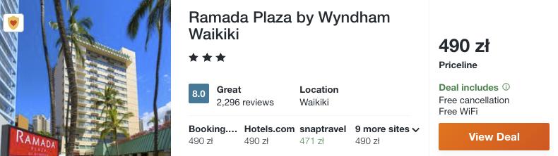 zarezerwuj hotel na hawajach