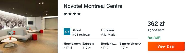 zarezerwuj hotel w montrealu