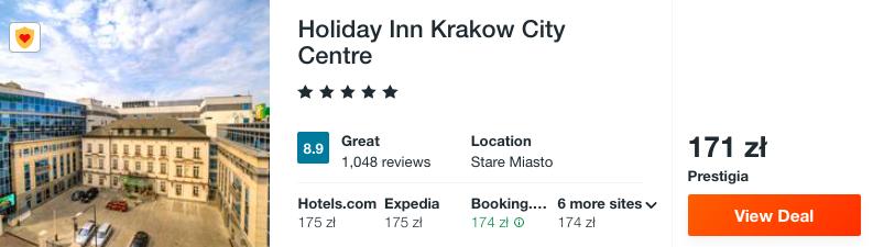 zarezerwuj hotel w krakowie