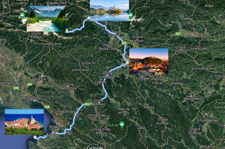 mapka słowenii
