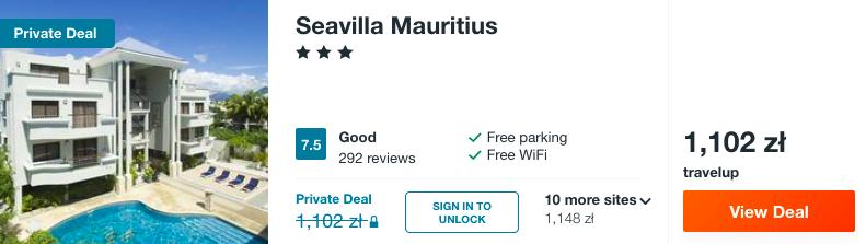 zarezerwuj hotel na mauritiusie