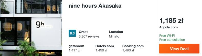 zarezerwuj hotel w tokio