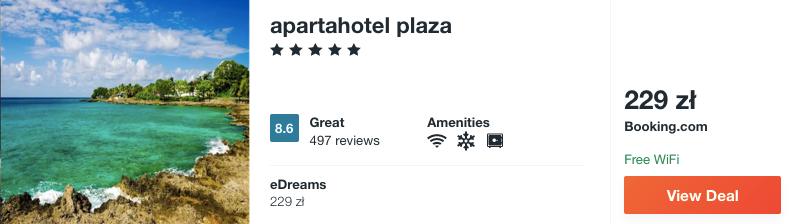 zarezerwuj hotel na san andres