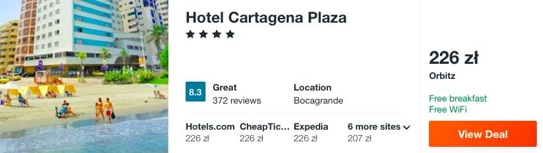 zarezerwuj hotel w kartagenie