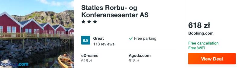 zarezerwuj hotel w norwegii