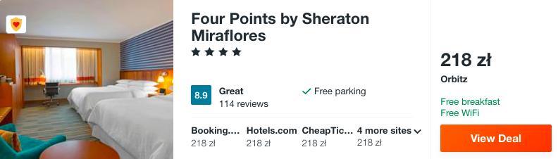 zarezerwuj hotel w peru