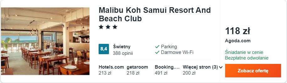 zarezerwuj hotel w tajlandii