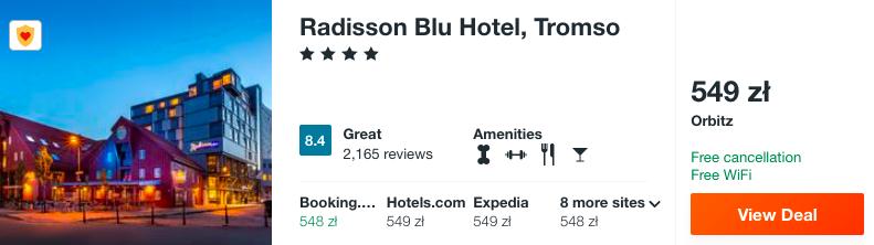 zarezerwuj hotel w tromso