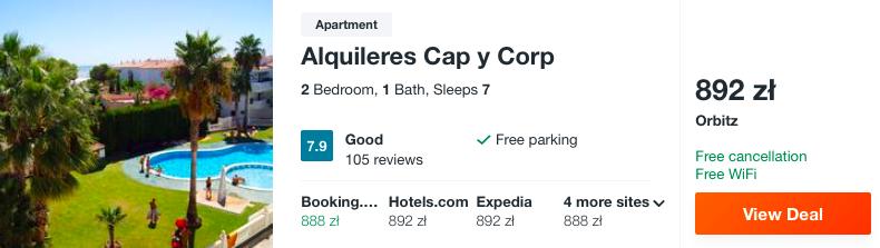 zarezerwuj hotel w hiszpanii